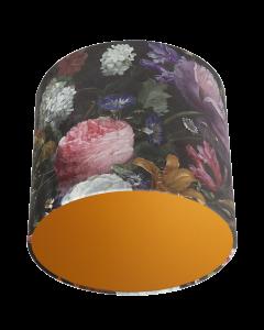 Lampenschirm Velour Blumen Ø 35cm, Höhe 24cm