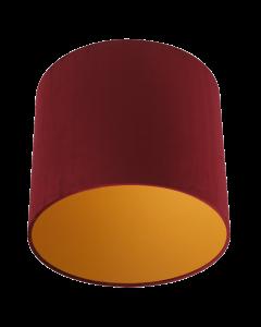Lampenschirm Velour Rot Ø 35cm, Höhe 24cm